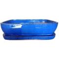 Maceta Bonsai + plato set/2 Azul