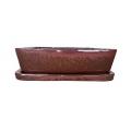 Bonsai + plato 37 cm, Rojo Cobre