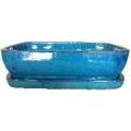 Maceta Bonsai + plato set/2 Azul Mar
