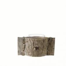 Posavelas cristal y madera