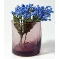 Vaso cristal lila 7.5x8.5cm